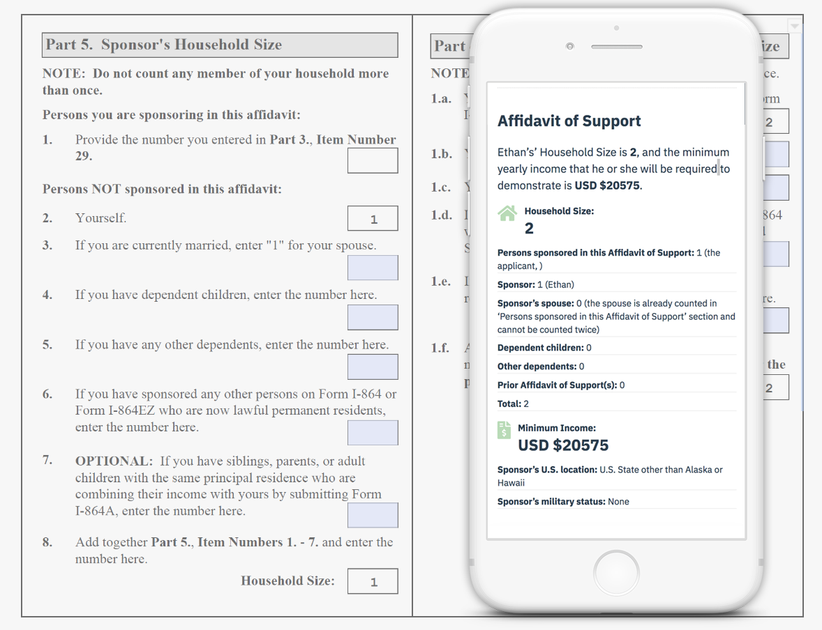 Affidavit of Support in Your Browser